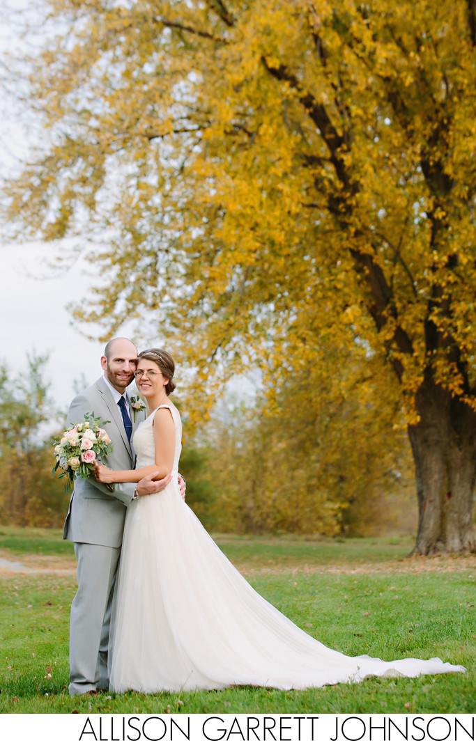Fall Foliage Tree Holmes Lake Intimate Wedding