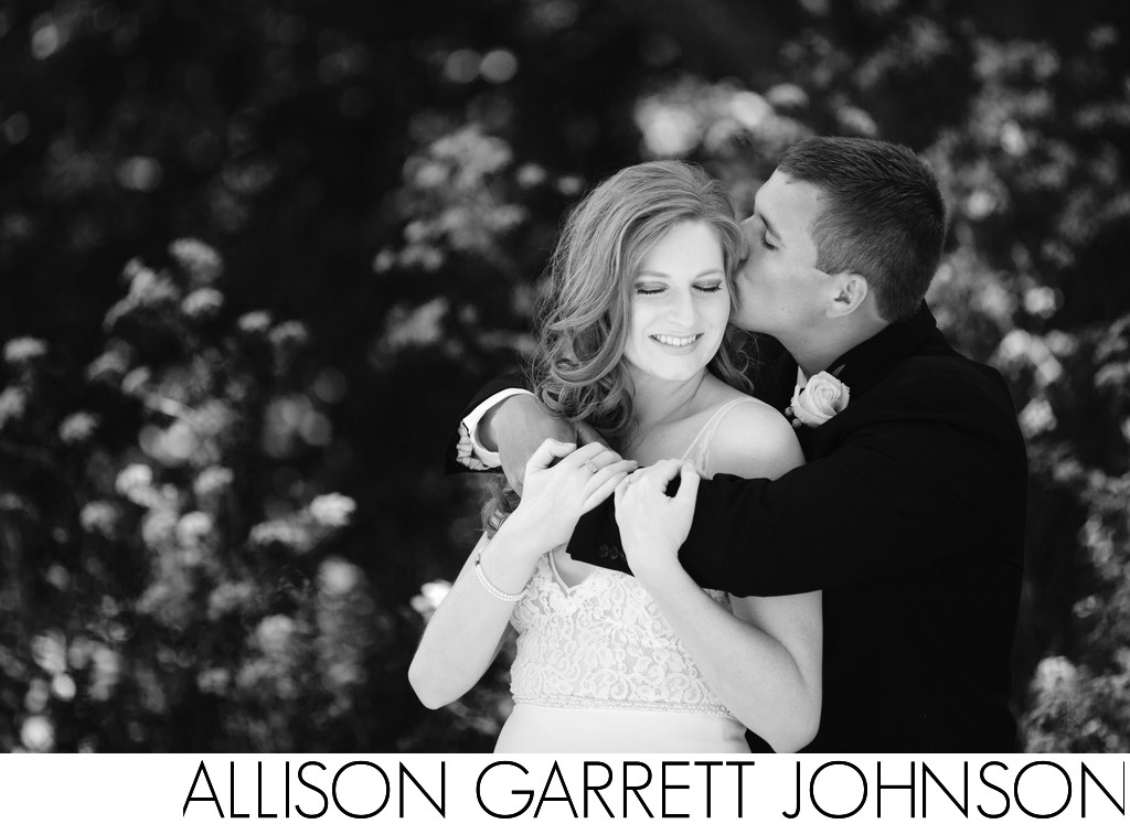 Intimate Wedding Portrait in Black and White