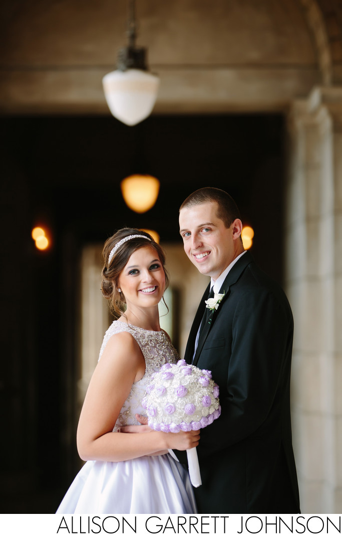 Fairytale Wedding Picture Nebraska State Capitol