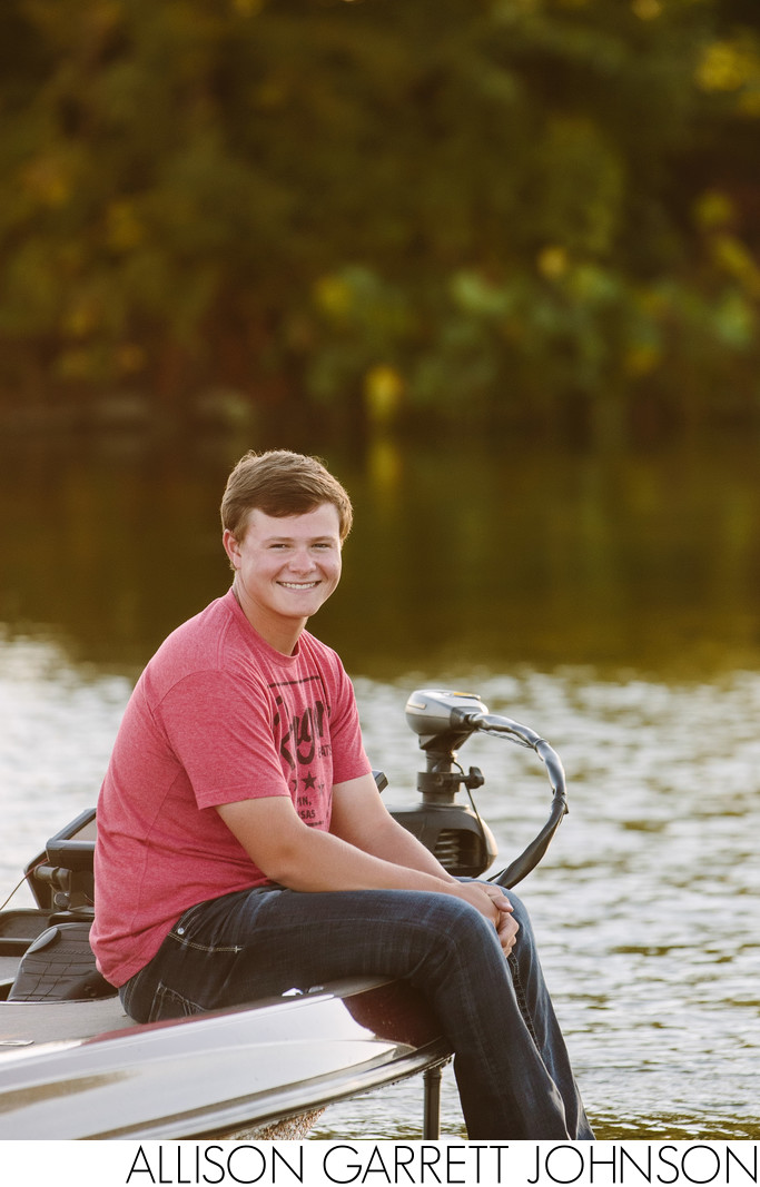 Fishing Boat Senior Pictures Branched Oak