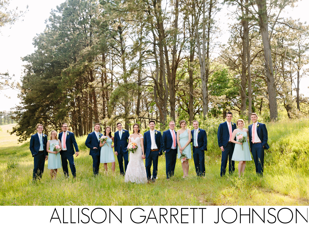 Wedding Party at Pioneers Park Lincoln