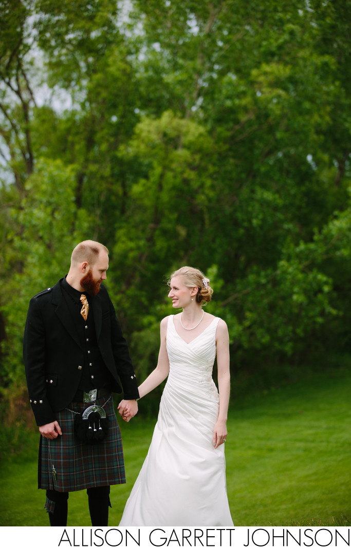 Traditional Irish Kilt Wedding Yankee Hill Country Club