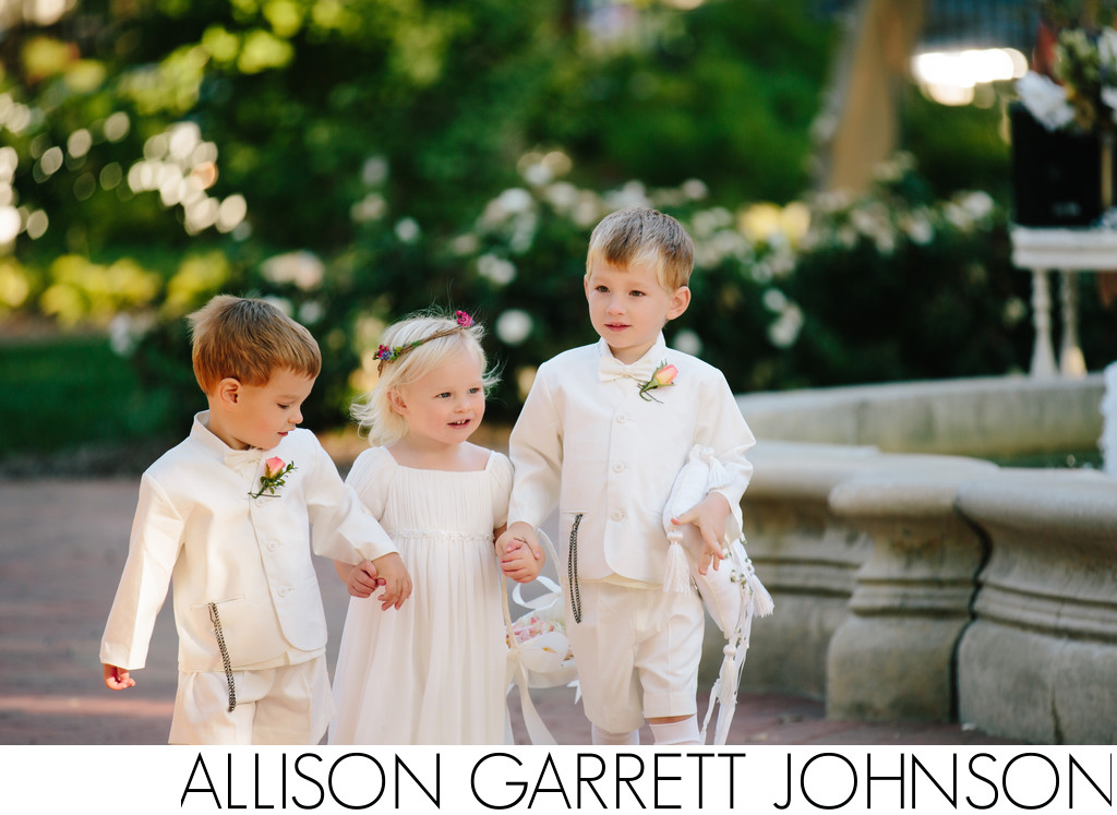 Flower Girl and Ring Bearers at Hazel Abel Park