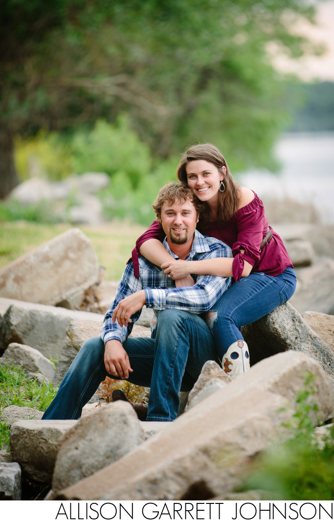Nebraska Engagement Pictures Branched Oak Lake