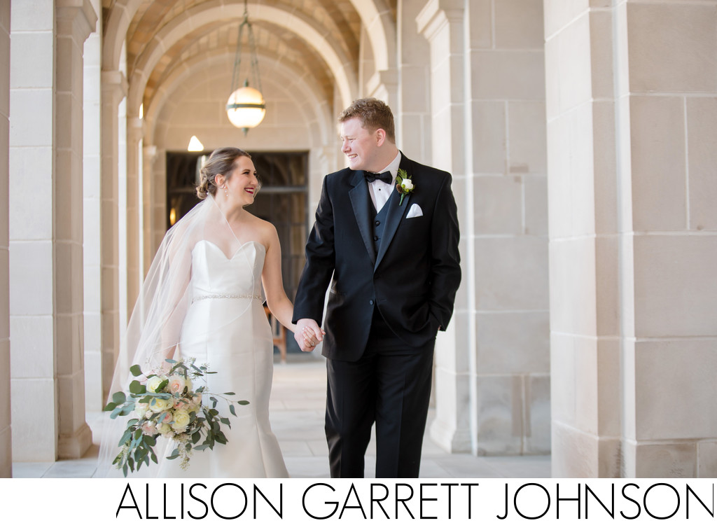 State Capitol Winter Wedding Photos