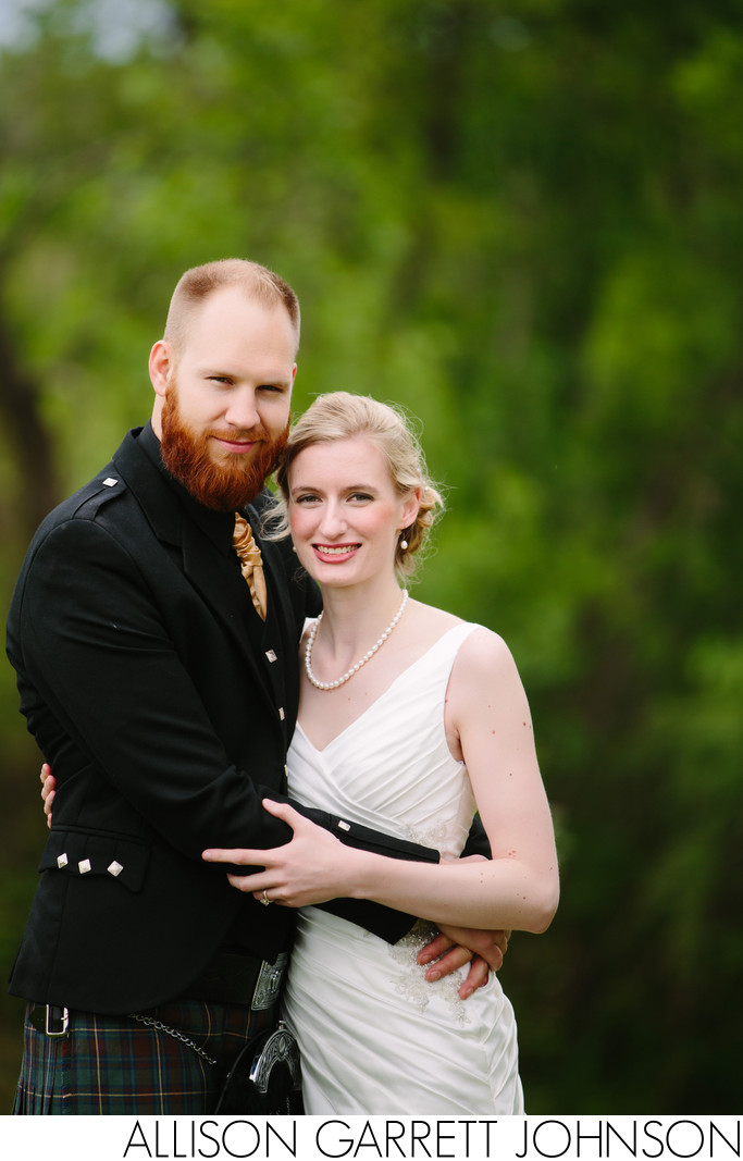 Yankee Hill Country Club Outdoor Portrait Wedding