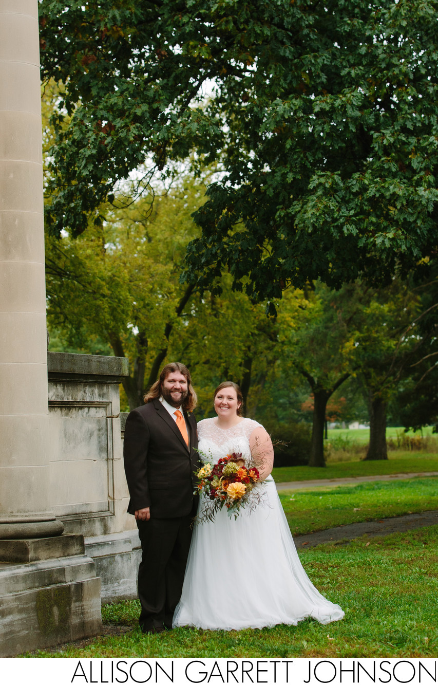 Wedding Portrait in Antelope Park Lincoln