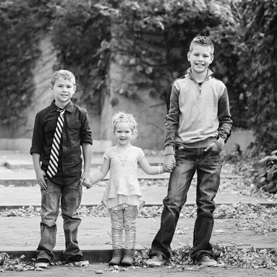 Brothers and Sister in Lincoln Community Foundation Garden