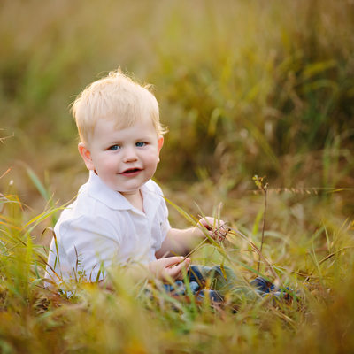 One Year Old Outdoor Portrait