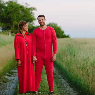 Famous Onesie Engagement Photo