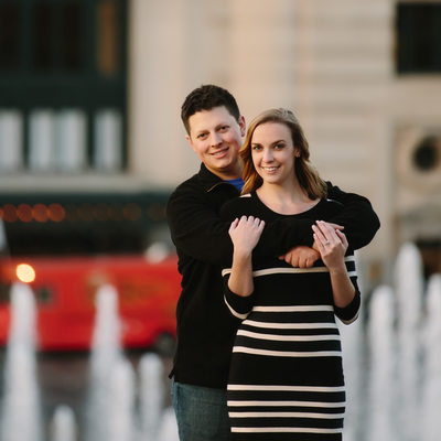 Kansas City Union Station Engagement Photo