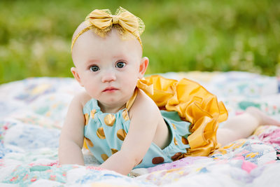 Outdoor baby portraits