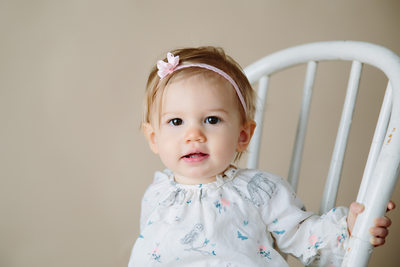 One Year Old Studio Portrait