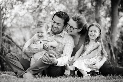 Outdoor Family Photos Black and White