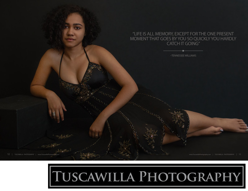 Tuscawilla Photography magazine high school senior page