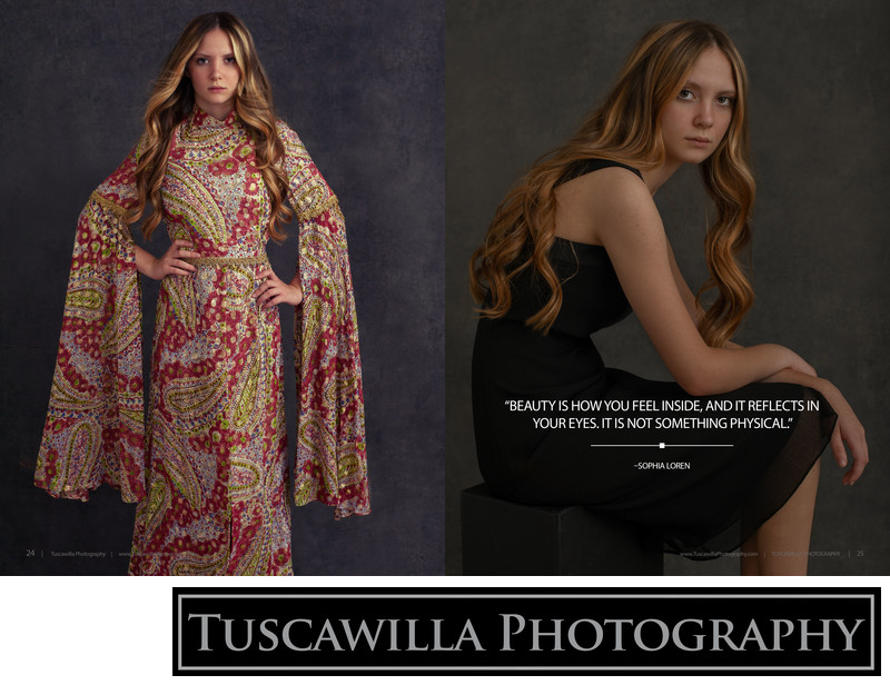 Tuscawilla Photography magazine teen makeover portraits