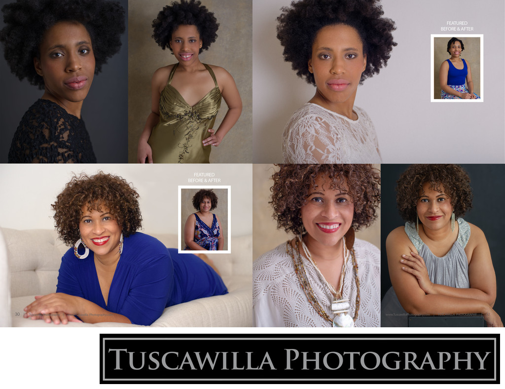 Tuscawilla Photography magazine before after makeover