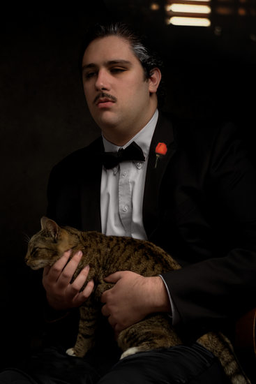 Gainesville pet photography Godfather scene