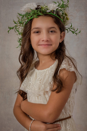 Gainesville child portrait flower crown