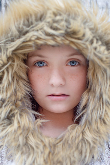 Child Portrait Natural Light Fur