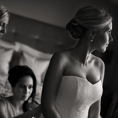 Caroline Castigliano Bride Getting ready for Wedding