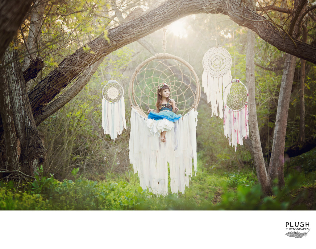 Dreamcatcher outdoor photo session 5 year old