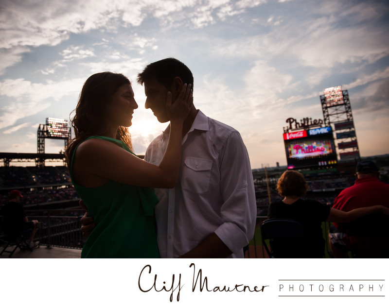 Engagement Session at Phillies Game