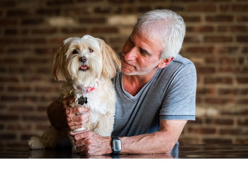 Cliff Mautner with his Dog, Chloe