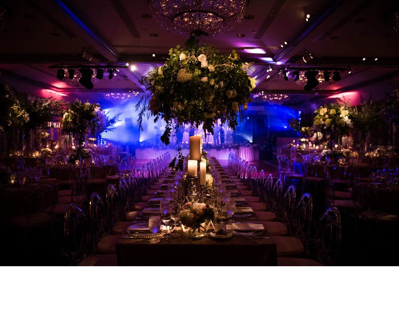 Blue Uplighting at Rittenhouse Hotel Wedding Reception