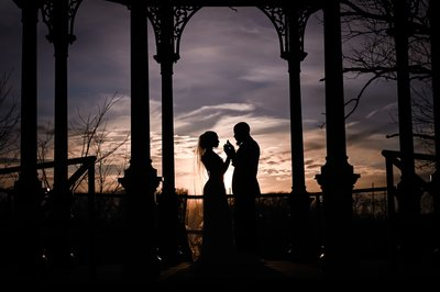 Philadelphia Wedding Silhouette Photographs