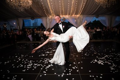 Parent Dances at Water Works Wedding Reception