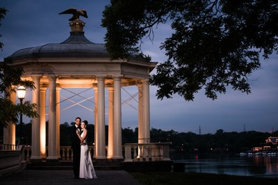 Night Photos at Water Works Gazebo