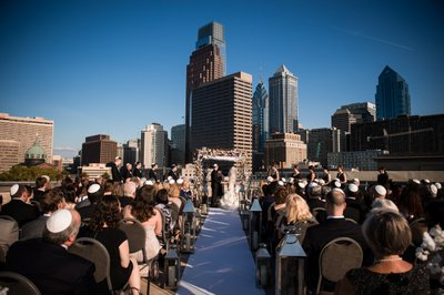 Rooftop Wedding at Franklin Institute