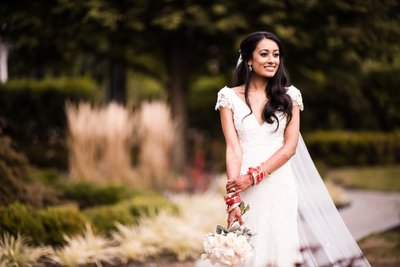 Indian Bride in White Dress at Rockleigh