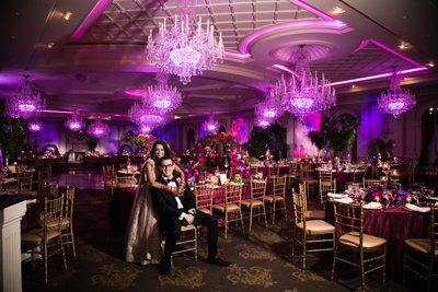 Newlyweds in Ballroom at The Rockleigh