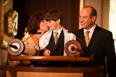 Bar Mitzvah with Parents at Torah