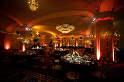Dramatic Wedding Reception Lighting at Ritz-Carlton