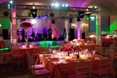 Colorful Reception Decor at Ritz-Carlton Philadelphia