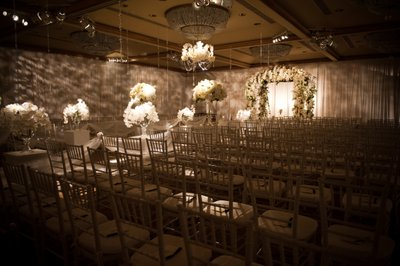 Empty Ceremony Room with Chuppah