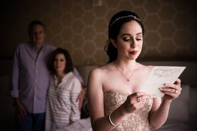 Bride Sheds Tear Reading Letter From Husband-to-Be