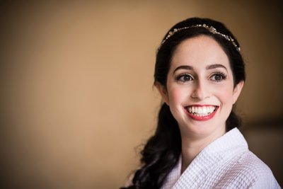 Smiling Bride at Rittenhouse Hotel