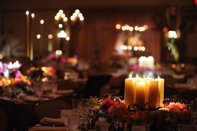 Candlelight Reception Lighting at Rittenhouse Hotel
