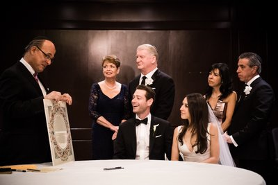Ketubah Signing Photos at Logan Hotel