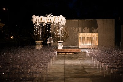 Barnes Foundation Wedding Ceremony with Chuppah