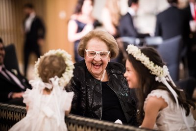 Flower Girls and Grandma at Barnes Foundation