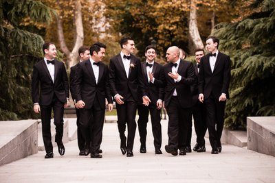 Groomsmen at Barnes Foundation Wedding