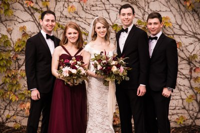 Formal Family Photos at Barnes Foundation Wedding