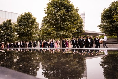 Groom's Baraat to Ceremony at Barnes Foundation