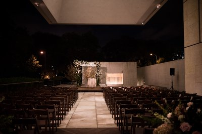 Wedding Ceremony Setup at Barnes Foundation