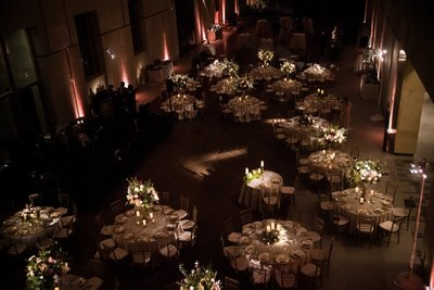 Wedding Reception Table Setup at Barnes Foundation